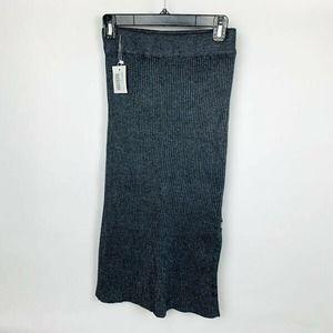 Women's Gray Maxi Long Sweater Skirt NWT